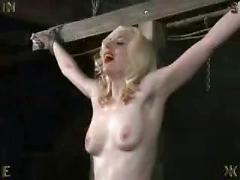 Cowgirl's cross Girl tied and left to suffer. Bdsm