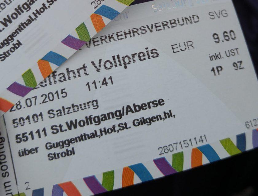 Salzburg -> Strobl -> St. Wolfgang