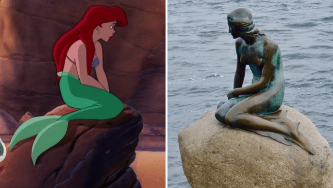 Image result for little mermaid copenhagen with ariel