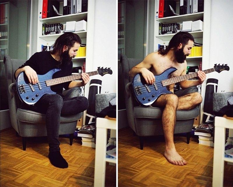 Great photo. Love the beard and long hair too.