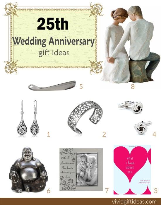 25th Wedding Anniversary Gift Ideas Vivid39s Gift Ideas