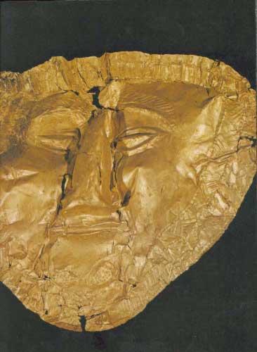 Golden death mask from Trebenishta