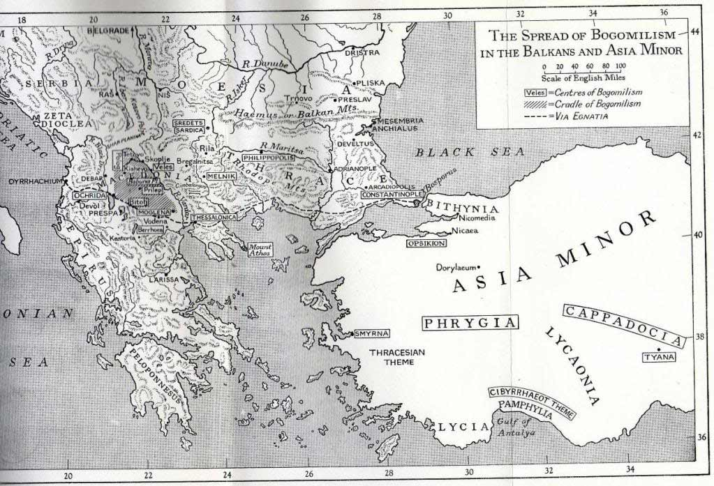 The Spread of Bogomilism in the Balkans and Asia Minor.