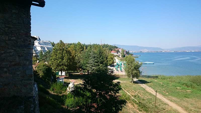 Ohrid Lake view from St. Athanasius cave church