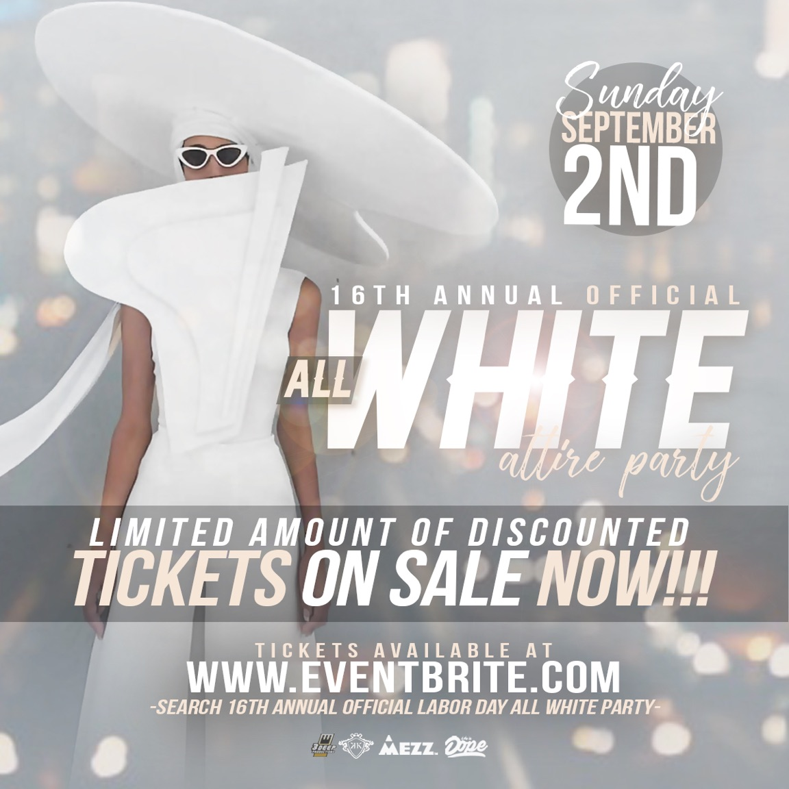 16th Annual Official All White Party Tickets 09 02 18
