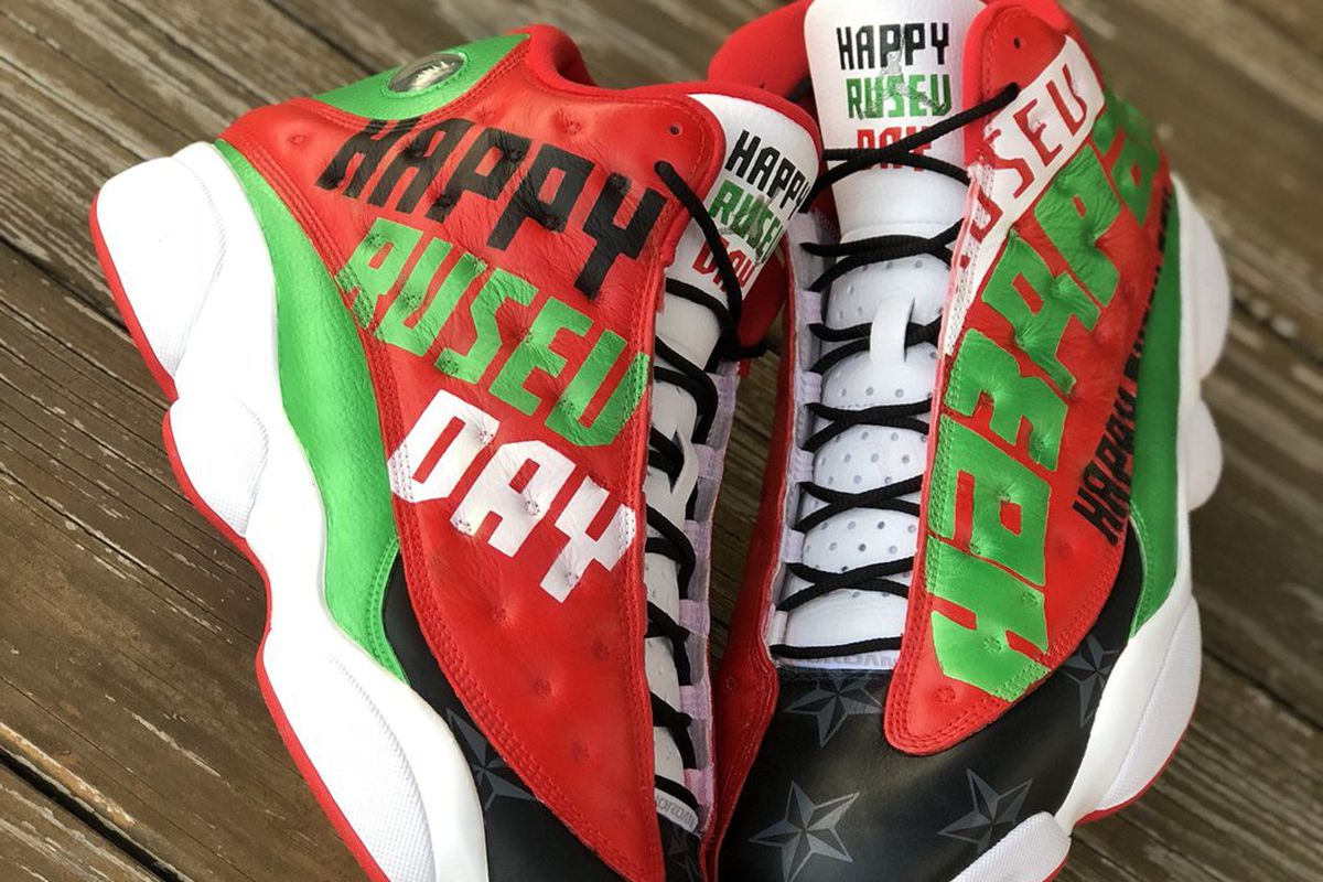 These Custom Rusev Shoes Are The Only Gift You Need For