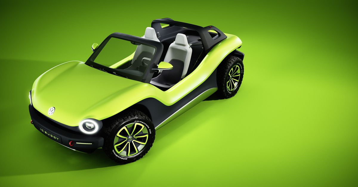 Vw S Electric Dune Buggy Crams Futuristic Tech Into A