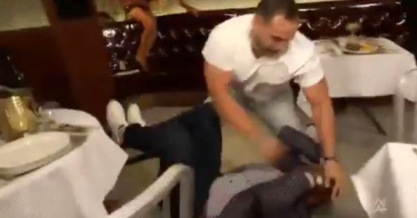 Rusev beats up Bobby Lashley at a local Cleveland restaurant