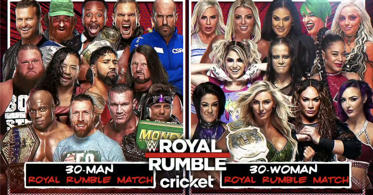 Updated list of confirmed entrants in the Royal Rumble matches