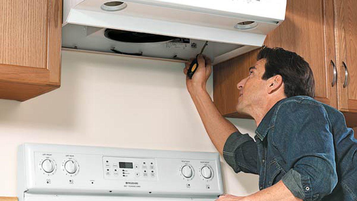 range vent hood leaks cold air
