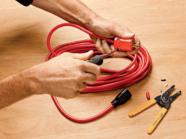how to wire a 3 prong extension cord plug  this old house