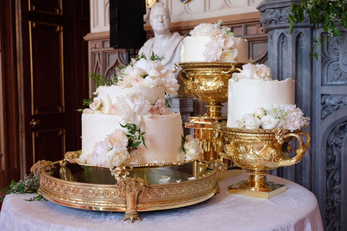 British Royal Wedding Cakes Over the Years   Eater Meghan Markle and Prince Harry s wedding cake Kensington Palace Twitter