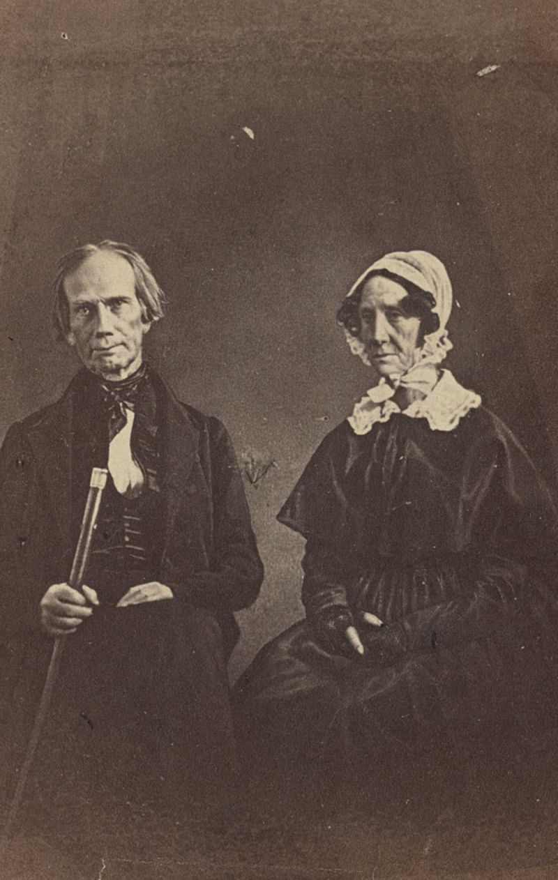 A portrait of Henry Clay and his wife circa 1849.