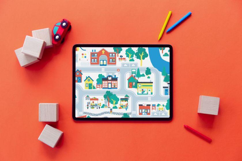 iPad RedBG Town