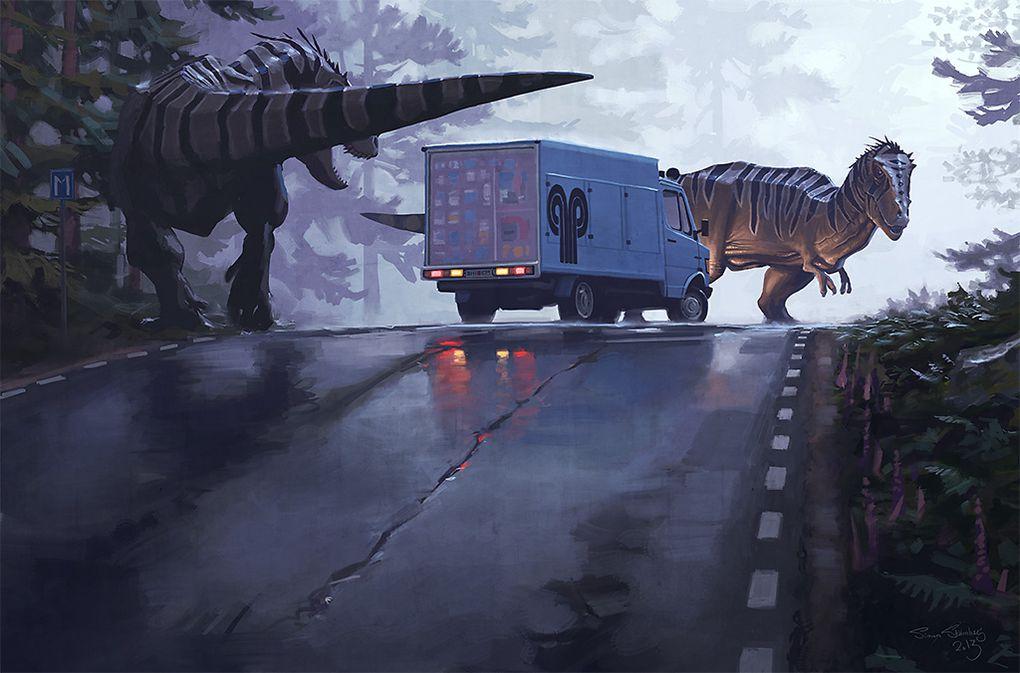 Incredible Paintings Of Sci Fi Suburbia Will Make You Wish