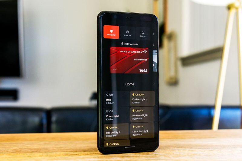 Il menu di accensione di Android 11 aggiunge controlli domestici intelligenti.