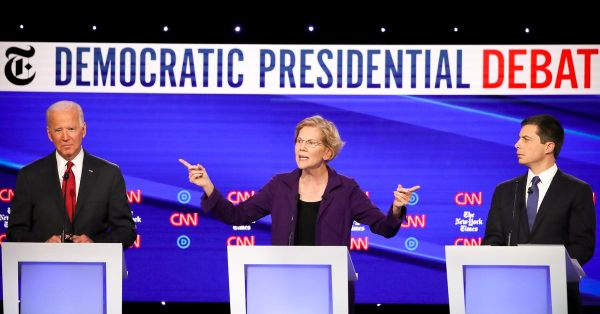 Everybody went after Elizabeth Warren over Medicare-for-all at the Democratic debate