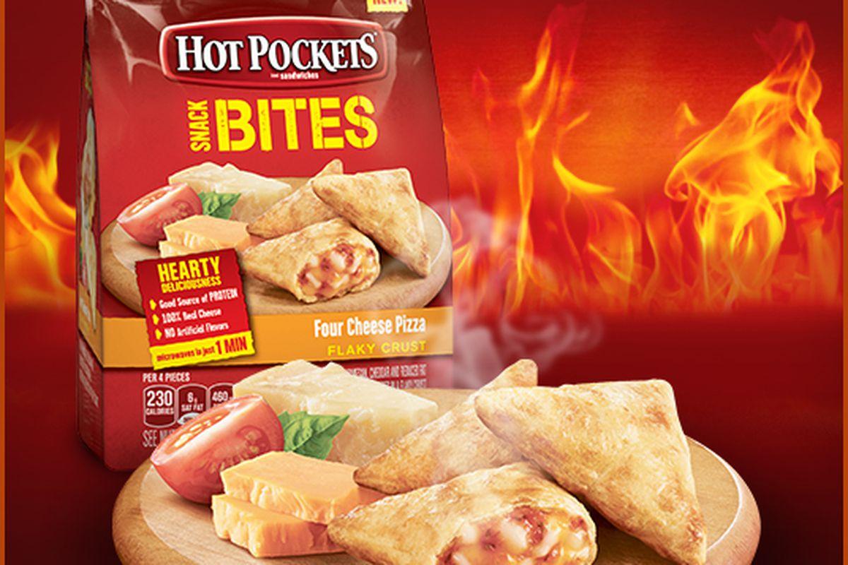 hot pockets new snack bites take all