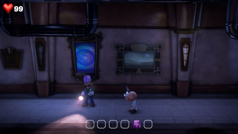 Luigi s Mansion 3 B1 Hallway purple gem - Luigi's Mansion 3 - Guida: come trovare tutte le gemme dei piani B2 e B1