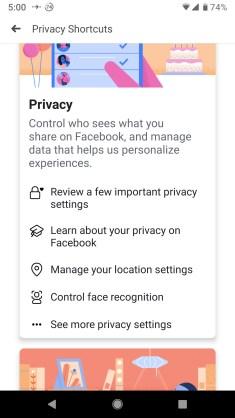 Facebook mobile checkup