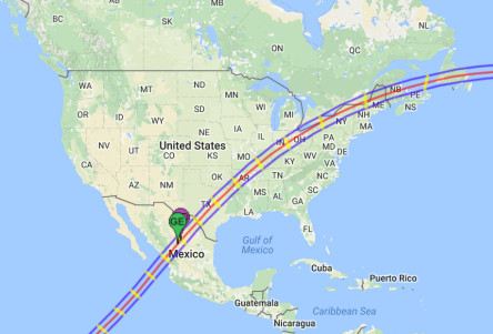 The eclipse path for April 8, 2024