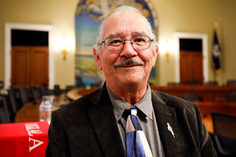 A photo of OJ Semans, a voting rights activist and member of the Rosebud Sioux Tribe in South Dakota