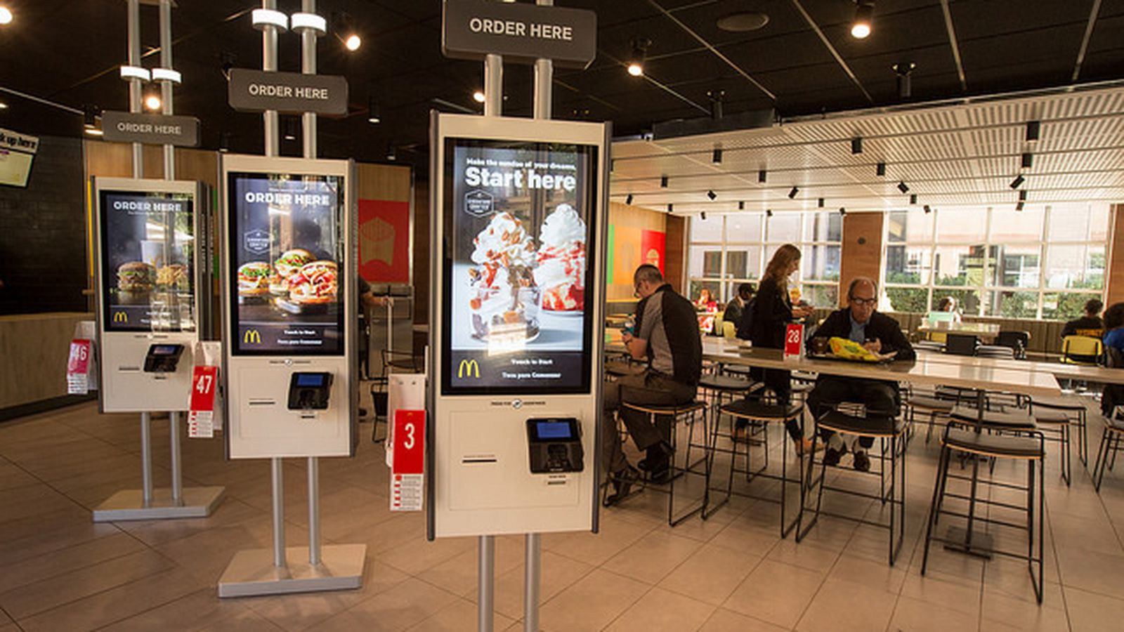 The McDonalds Of The Future Has Table Service And Touch Screen Ordering Eater