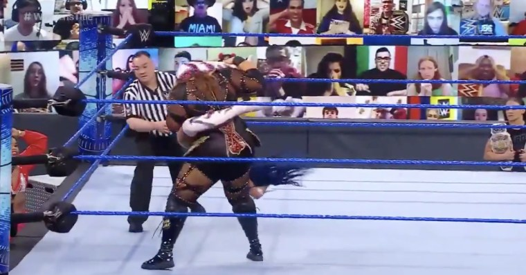 This was an incredible spot during the Banks vs. Jax match on SmackDown