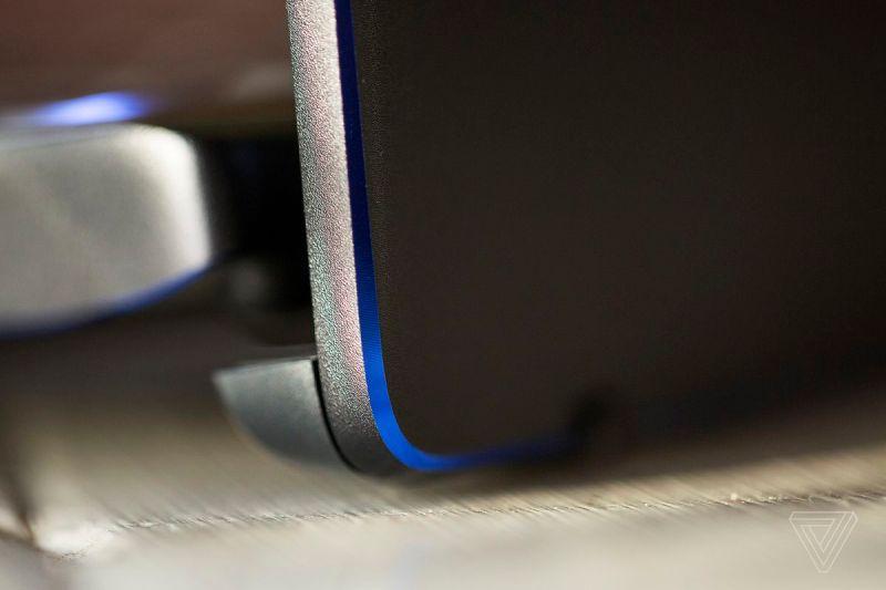 L'angolo posteriore destro dell'MSI Prestige 14.