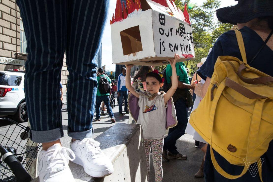 Avery Tsai, 9, and a house on fire