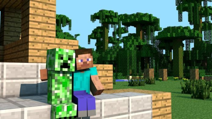 Minecraft - hugging a creeper