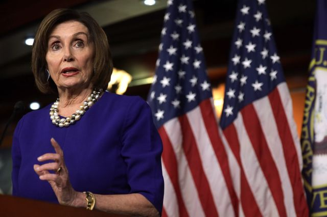 U.S. Speaker of the House Rep. Nancy Pelosi (D-CA) speaks during her weekly news conference last week