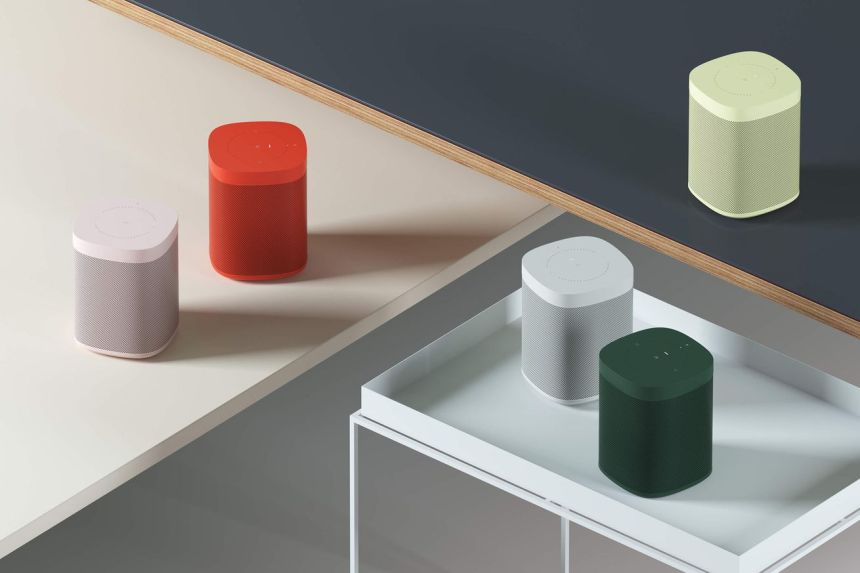 Sonos One, soon in five colors