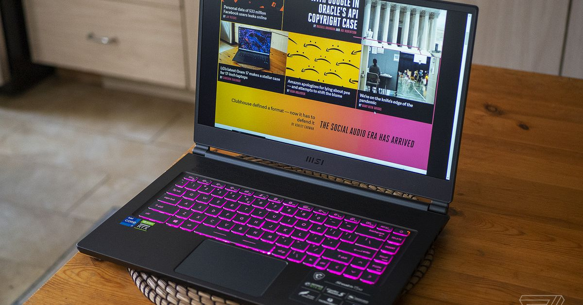 MSI Stealth 15M review: slim, light, and loud