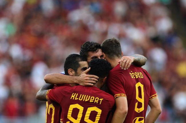 Image result for photos of roma vs sassuolo