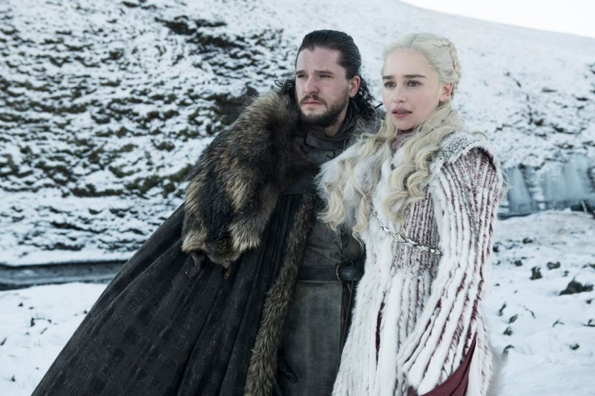 Jon Snow and Daenerys in <em>Game of Thrones </em>season eight.