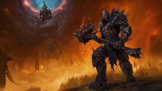World of Warcraft - Bolvar Fordragon stands outside Torghast, brandishing his club