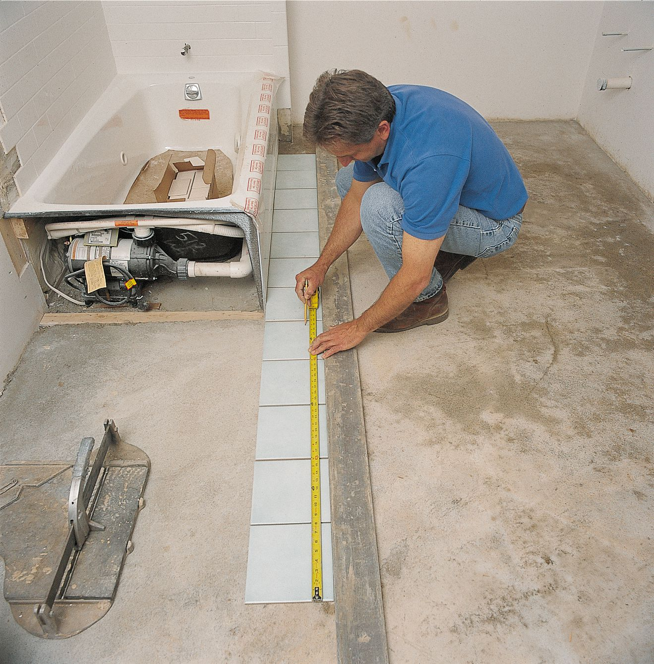how to install ceramic tile flooring in