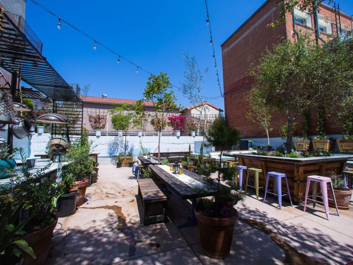 Outdoor patio at Carruth Cellars