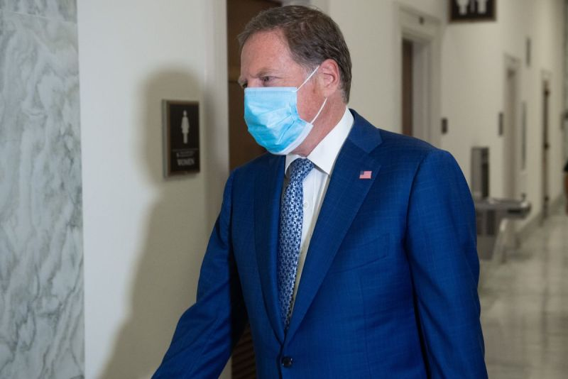 Geoffrey Berman, former US Attorney for the Southern District of New York, arrives for a closed transcribed interview with the House Judiciary Committee on Capitol Hill, in Washington, DC, July 9, 2020.