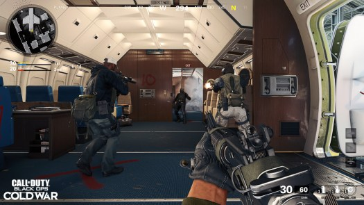 Call of Duty: Black Ops Cold War players fighting on an airplane