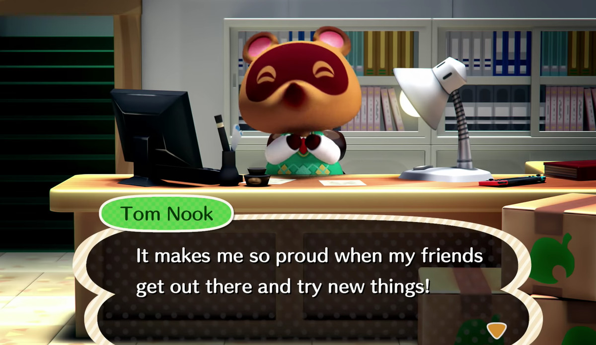Tom Nook in Animal Crossing Switch announcement trailer
