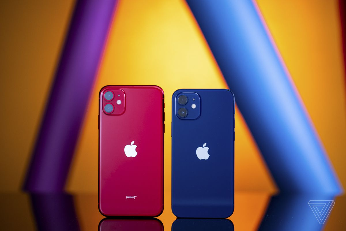 The iPhone 12 is noticeably smaller than the iPhone 11.