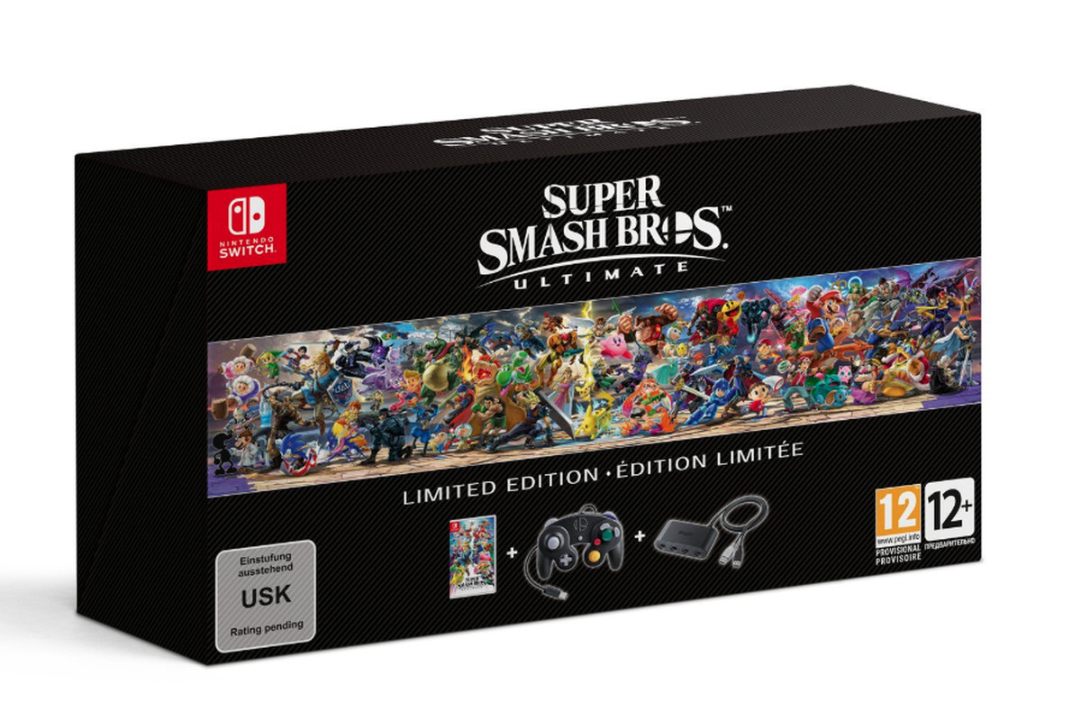 Super Smash Bros  Ultimate Limited Edition will include a GameCube     Super Smash Bros  Ultimate Limited Edition will include a GameCube  controller   The Verge