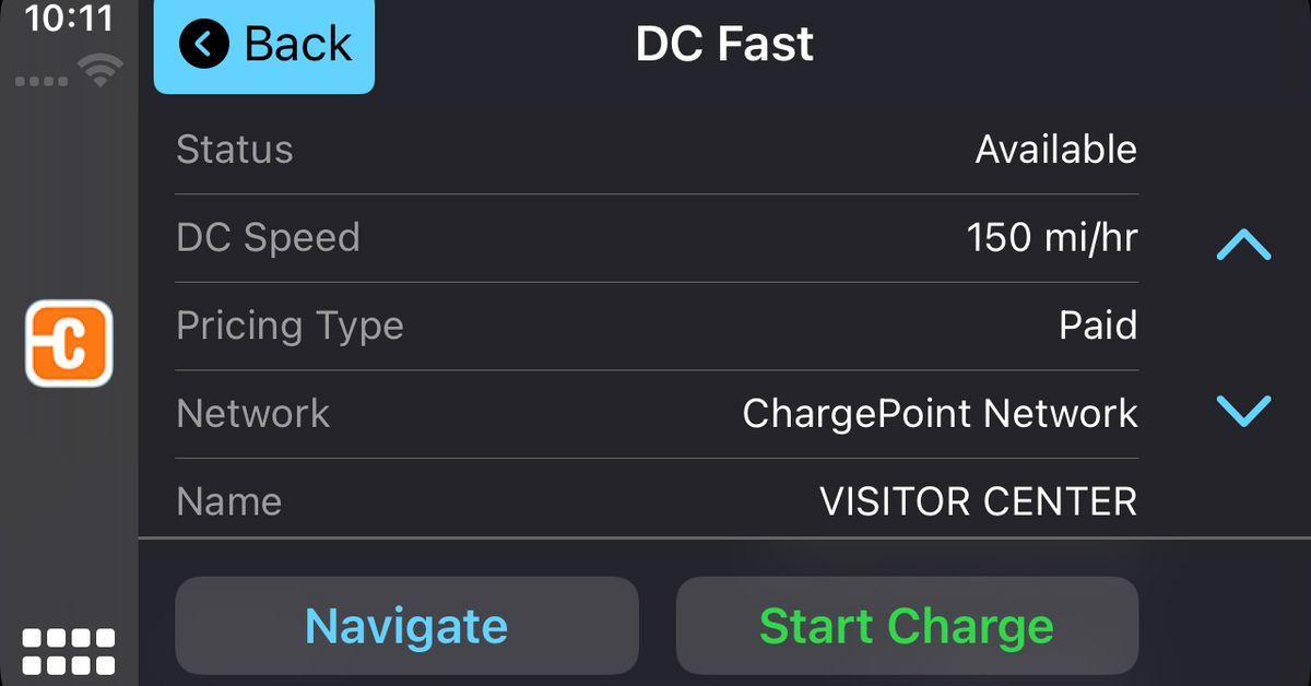 EV charging network ChargePoint adds Apple CarPlay support