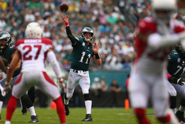 Image result for carson wentz 2017 vs cardinals