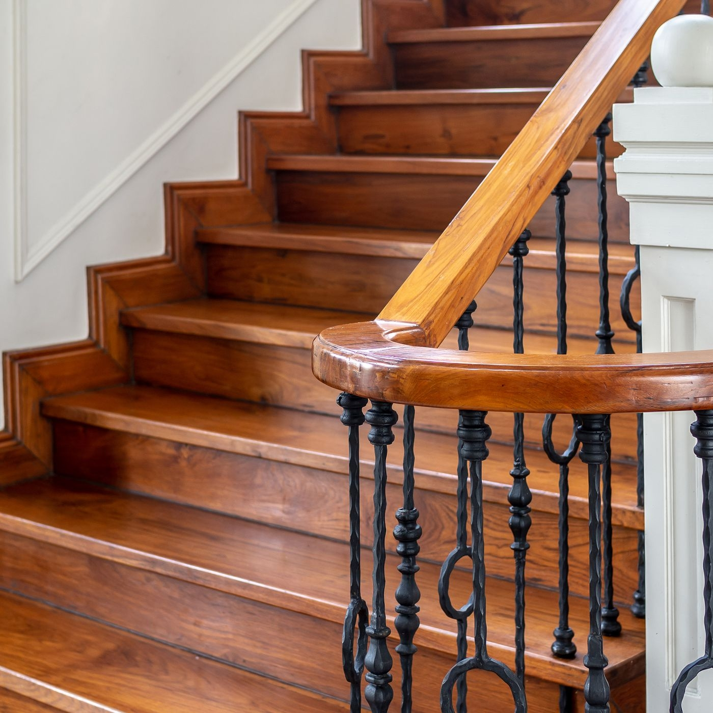 How To Fix Squeaky Stairs This Old House   Carpet On Wooden Stairs   Victorian   Combined Wood   Jute   Dark   Hall