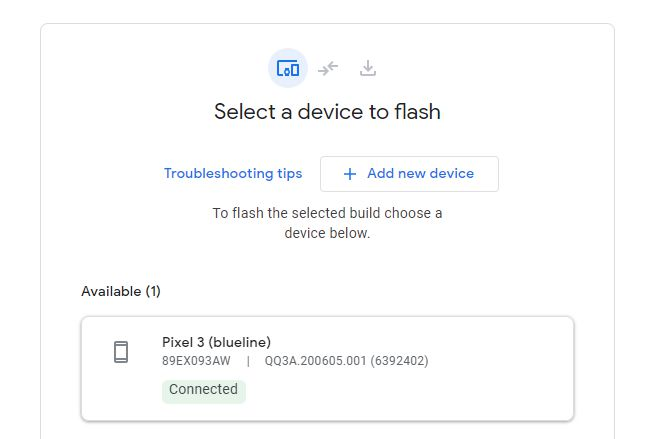 Strumento flash Android