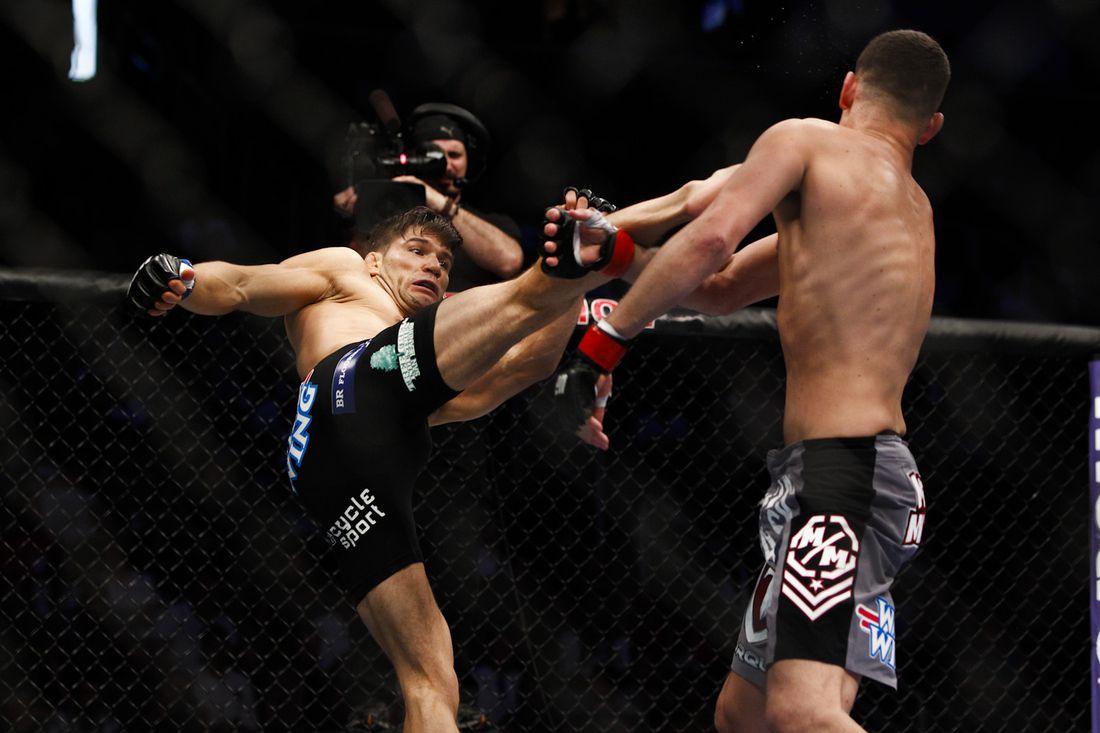 Josh Thomson defeated Nate Diaz at UFC on FOX 7 on Saturday night.