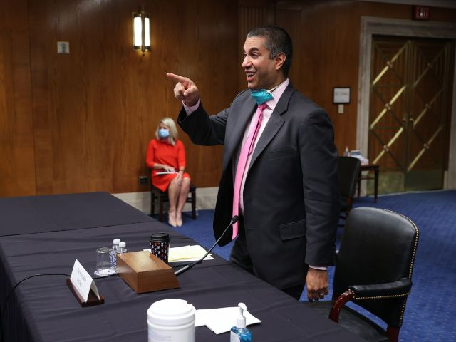 FCC Chairman Ajit Pai at a June Senate Appropriations Subcommittee hearing, in Washington, DC.